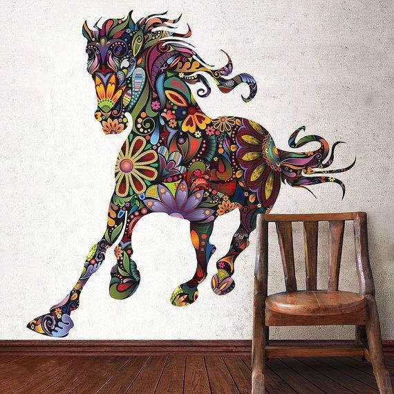 时尚简约风格墙绘图片 简约墙体彩绘素材