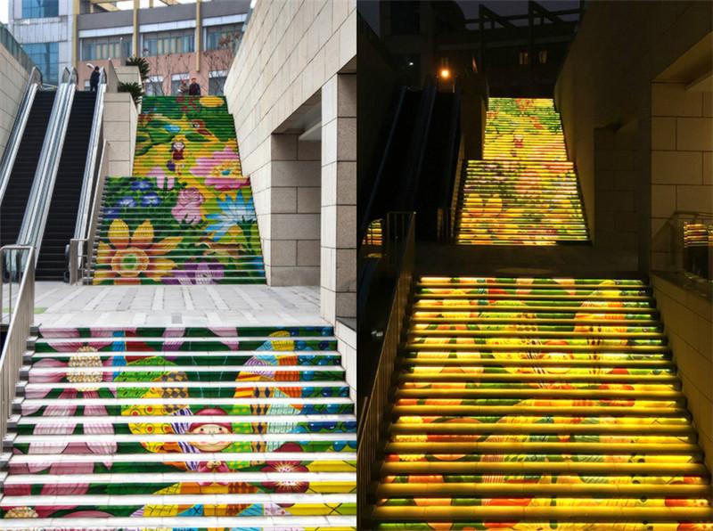 台阶-楼梯-立面手绘墙绘绘画案例
